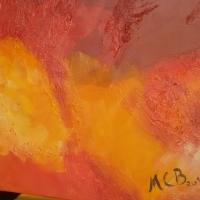 Beckx Art Lebensfeuer Acryl 50x50cm